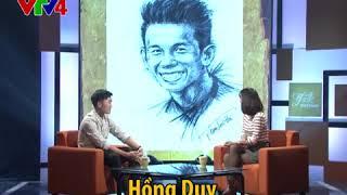 """Xem Xuân Trường """"bắn tiếng anh"""" trong chương trình Talk Viet Nam cùng MC Thùy Dương."""