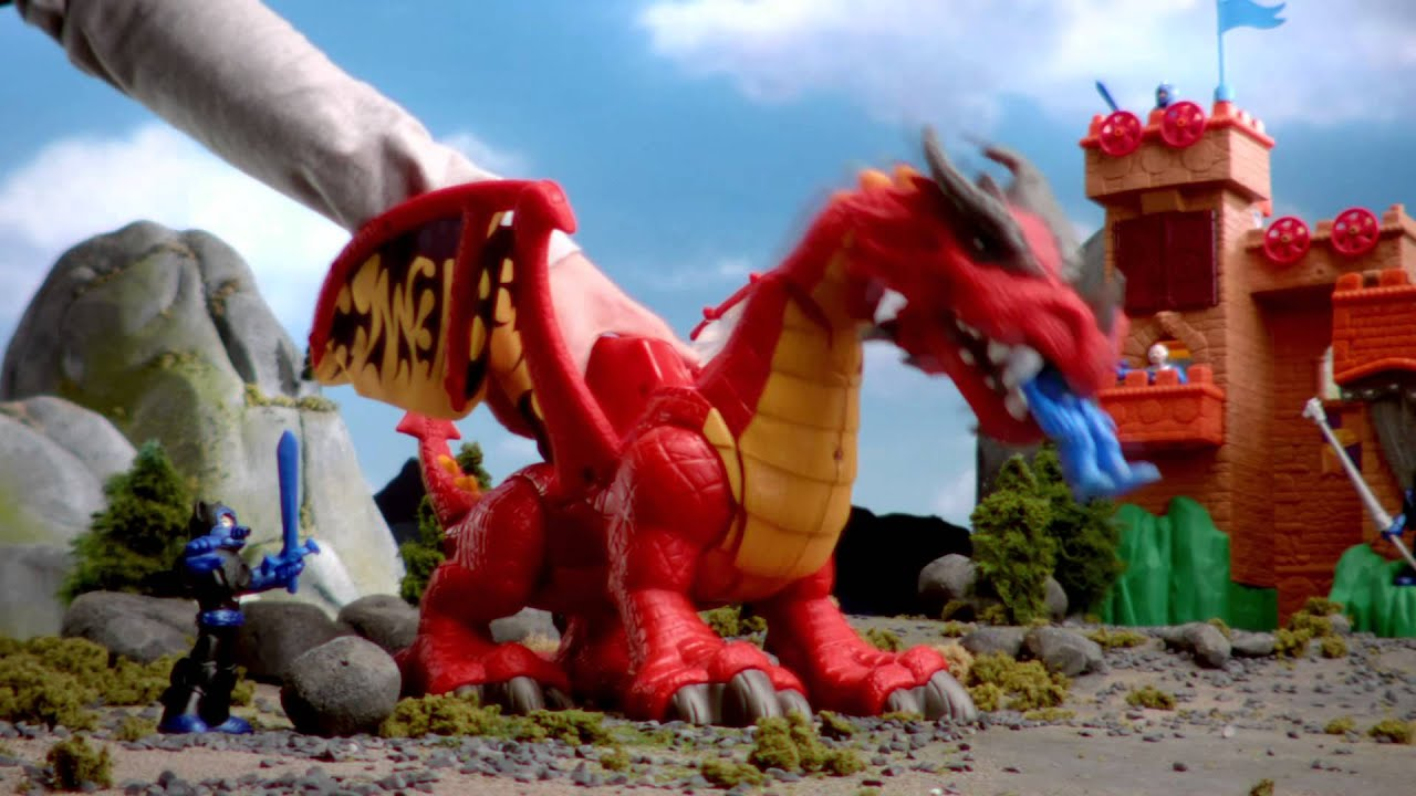 Toy Castle Show : Fisher price imaginext castle ogre and dragon youtube