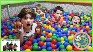 Mystery Ball Pit Food Surprise Challenge / That YouTub3 Family
