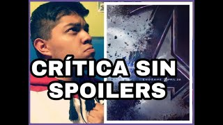 Critica: AVENGERS END GAME - Sin Spoilers  - Review