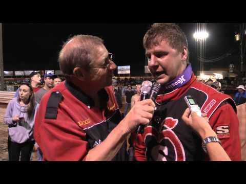 Lincoln Speedway World of Outlaws Sprint Car Victory Lane 5-16-13