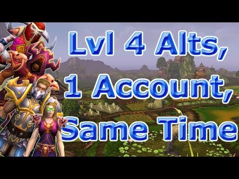 Level 4 Alts at same time on 1 account