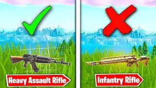 *NEW* Infantry Rifle VS AK-47 !! Which is better?  Fortnite Battle Royale Gun Comparison