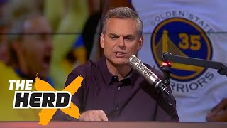 Warriors win Game 2 of 2017 Finals, Golden State greatest team ever? - Colin discusses   THE HERD