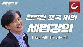 [김광일의 입] '친절한 조국씨' 세금회피法 총정리