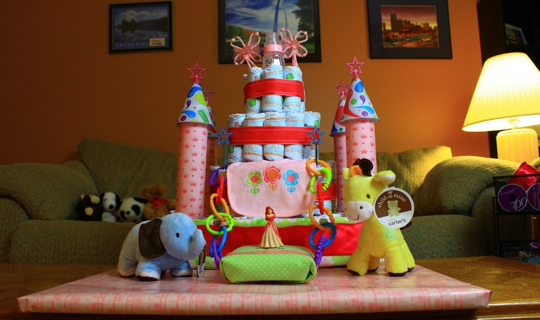How To Make A Princess Diaper Cake Youtube