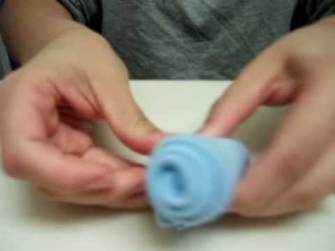 Washcloth Rose - YouTube