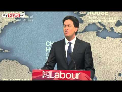 Ed Miliband Unveils Labour's Foreign Policy Plans