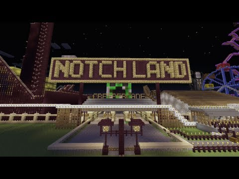 Minecraft Xbox - Notch Land - Creepercade - Part 1
