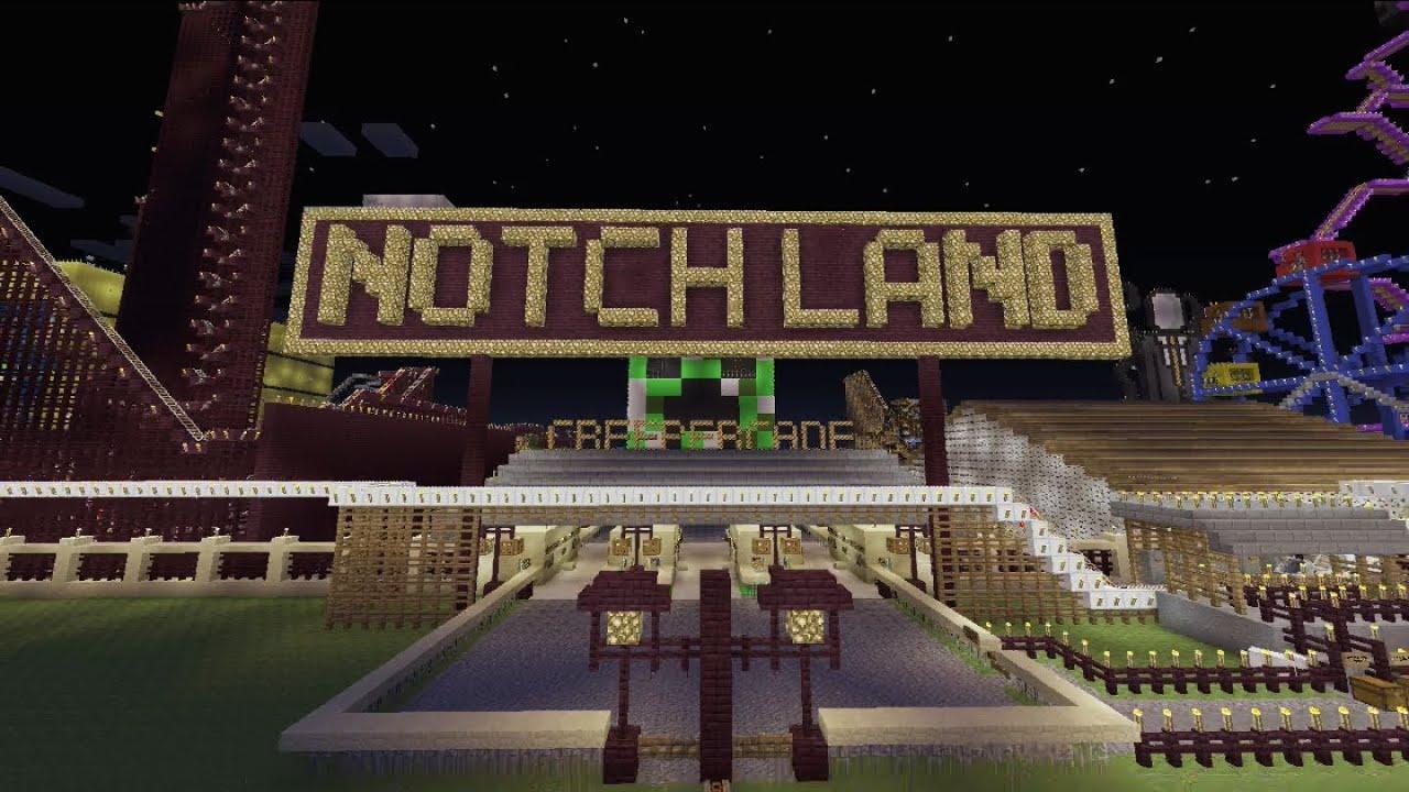 Minecraft Xbox Notch Land Creepercade Part 1 YouTube