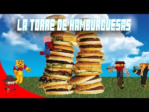 La Torre De Hamburguesas Nuevo Juego Minecraft Con Sara Exo y Luh