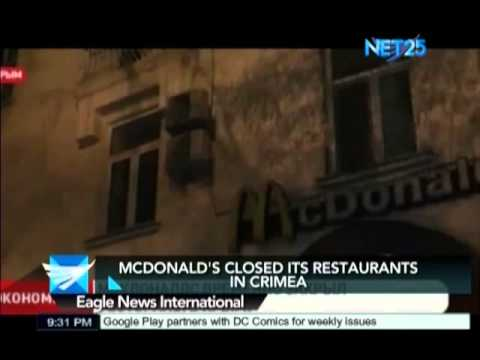Mcdonald's closes three restaurants in Crimea