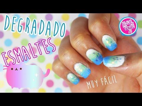 Degradado con esmaltes para uñas