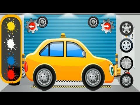 Taxi Repair shop | Car Garage & Salon | Videos for Children | Gameplay Android sports car