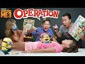 MINION OPERATION CHALLENGE!!! Despicable Me 3 Surgery with BE...