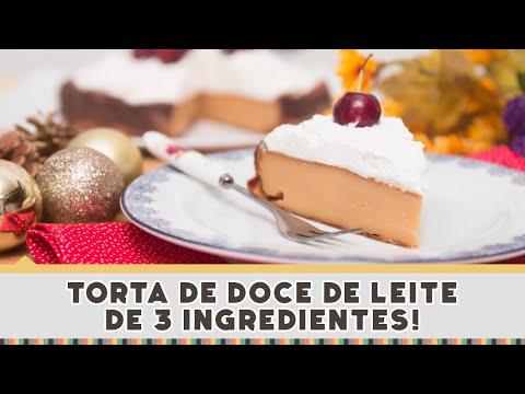 Torta Rápida de Doce de Leite - Receitas de Minuto #184