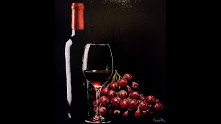 Oil Painting Time Lapse: Wine & Grapes