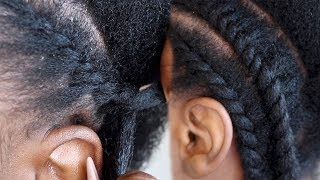 101 - HOW TO FLAT TWIST NATURAL HAIR BEGINNER FRIENDLY