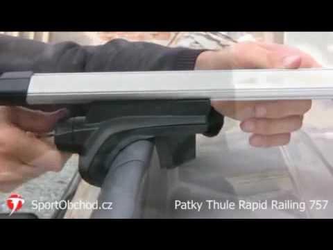 thule rapid railing 757 youtube. Black Bedroom Furniture Sets. Home Design Ideas