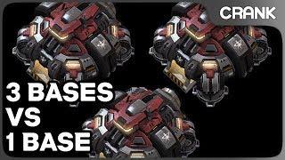 3 Bases vs 1 Base - Crank's Variety StarCraft 2