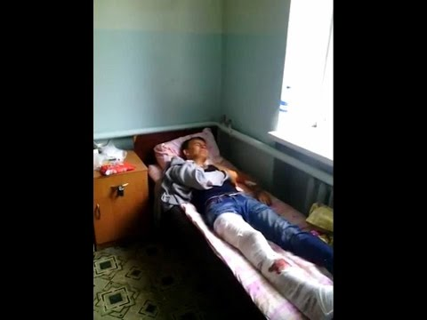 Обстрел террористами колонны с мирными беженцами в районе Хрящеватое 18.08.2014