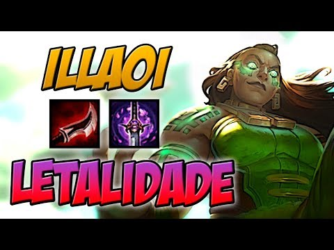 DANO IMENSO - ILLAOI TOP LETALIDADE GAMEPLAY - LEAGUE OF LEGENDS - ETERNO LOL