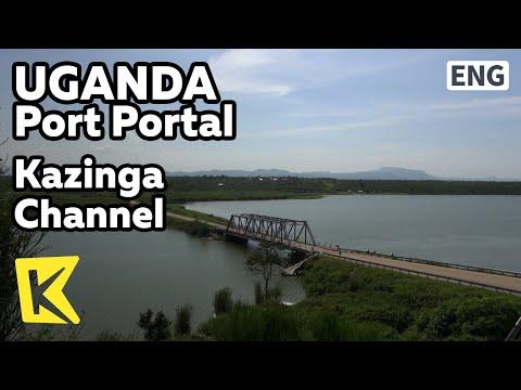 【K】Uganda Travel-Port Portal[우간다 여행-포트포탈]카징가 채널/Kazinga Channel/Queen Elizabeth Park/Lake/Ship/Hippo