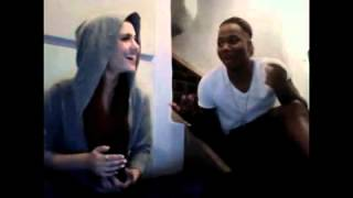 Ariana Grande & Leon Thomas III singing