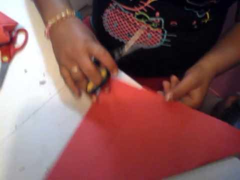 Como hacer un vaso de origami