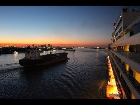 Carnival Sunshine - Port of New Orleans time lapse