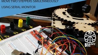 Control 2 Stepper Motor using an Arduino, Easy Driver and Serial Monitor - Tutorial