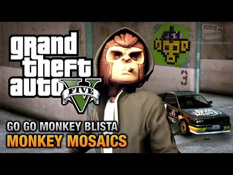 GTA 5 - Monkey Mosaics Location Guide (Go Go Monkey Blista) [PS4 & Xbox One]