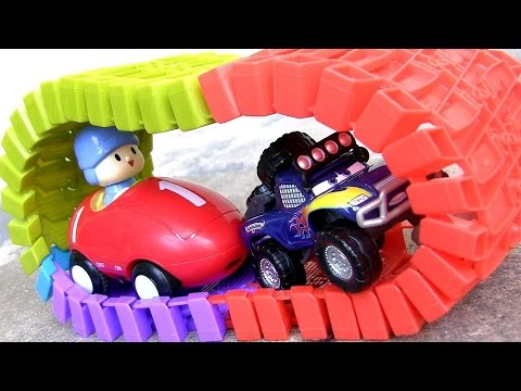 Pocoyo Pixar Cars RadiatorSprings500 Off-Road Lightning McQueen Car Racing RS500 Race Track