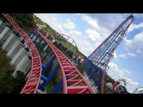 Did you know that this Superman - Ride Of Steel is a mirror image or the Ride Of Steel coaster at Six Flags Darien Lake in Upstate New York? The one at Darien Lake was the first Intamin mega...
