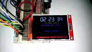 "Arduino Due - TFT LCD 2.2"" ILI9341 and DS3231"