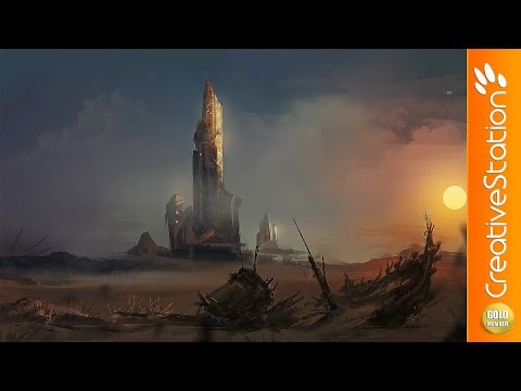Sci - Fi Landscape - Speed Painting (#Photoshop) | CreativeStation GM