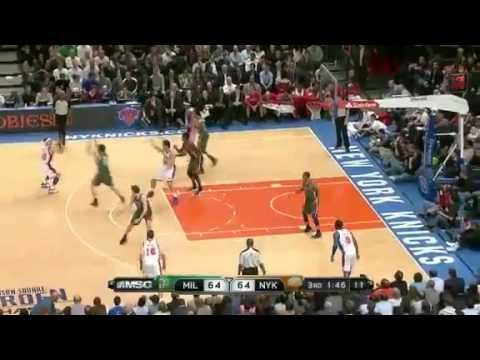 NBA Milwaukee Bucks vs New York Knicks Highlights Mar 26, 2012 Game Recap