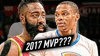 Russell Westbrook vs James Harden 2017 MVP Battle Highlights - Who'll be the MVP?