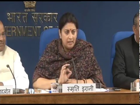 Union HRD Minister Smriti Irani's Press Conference