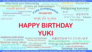 Yuki   Languages Idiomas - Happy Birthday