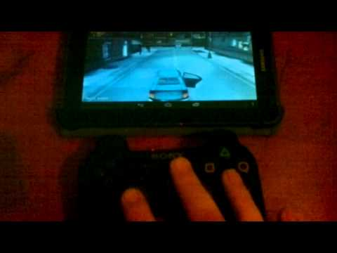 GTA 3 on Galaxy Tab 2 with PS3 Controller