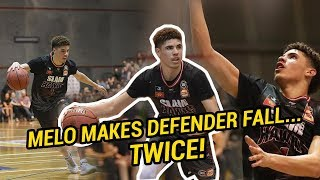 LaMelo Ball DESTROYS Australian Defender TWICE In First Regular Season Game! #1 NBA Draft Pick!?