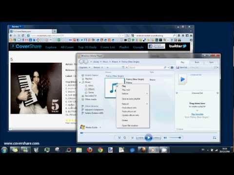 how to change playlist album art on windows media player