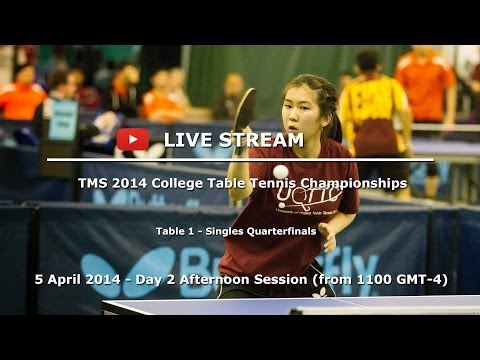 2014 TMS College Table Tennis Championships - Day 2 Afternoon - Table 1