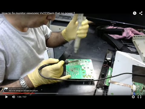 Repair LCD Monitor Viewsonic Vx2235wm