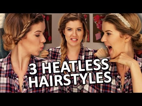 3 CUTE & EASY No Heat Hairstyles for Fall