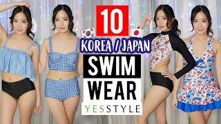 Cute JAPANESE/KOREAN SWIMWEAR Try-on HAUL from YESSTYLE