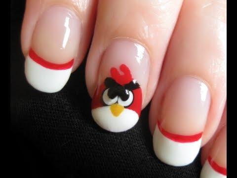 Angry Birds Nail Art - Madár körmök készítése