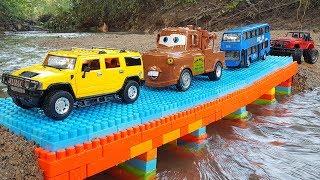 Build Bridge Blocks Toys For Children | Construction vehicles Toys for kids | Vic Vic
