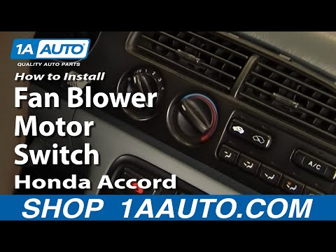 How To Install Replace Fan Blower Motor Switch Honda Accord 90-97 1AAuto.com